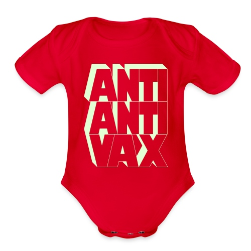 Anti-Anti-Vax 1-Piece (Glow in the Dark!) - Organic Short Sleeve Baby Bodysuit