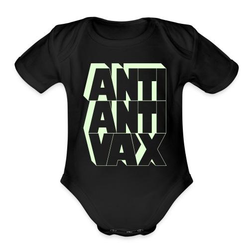 Anti-Anti-Vax 1-Piece (Glow in the Dark!) - Organic Short Sleeve Baby Bodysuit