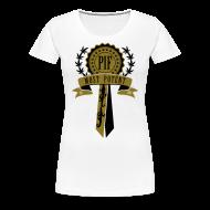 Women's T-Shirts ~ Women's Premium T-Shirt ~ PIF Award [metallic gold]