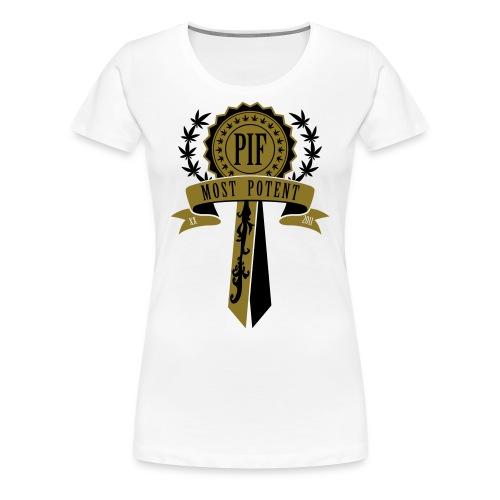 PIF Award [metallic gold] - Women's Premium T-Shirt