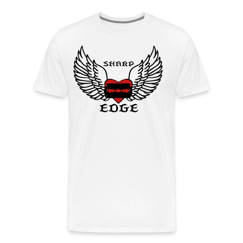 Men's Black Winged Razor - Men's Premium T-Shirt