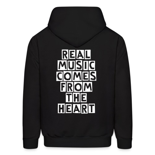 REAL MUSIC COMES FROM THE HEART - Men's Hoodie
