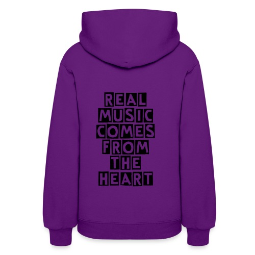 REAL MUSIC COMES FROM THE HEART - Women's Hoodie
