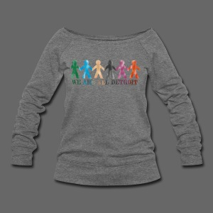 We Are All Detroit - Women's Wideneck Sweatshirt