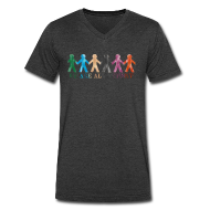 T-Shirts ~ Men's V-Neck T-Shirt by Canvas ~ We Are All Detroit