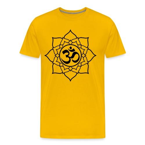 OM and Lotus (M)+ - Men's Premium T-Shirt