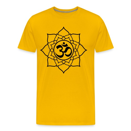 OM and Lotus (M)+ - Men's Premium T-Shirt