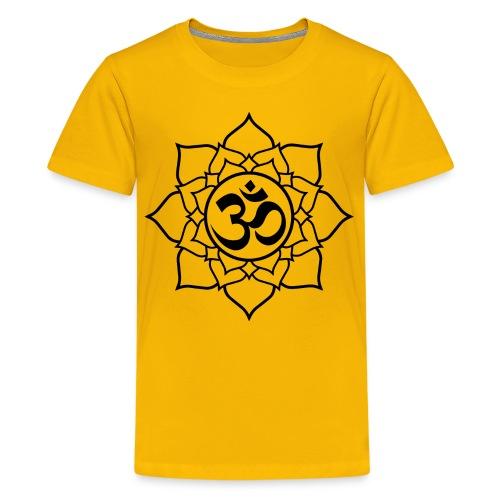 OM and Lotus (Y)+ - Kids' Premium T-Shirt