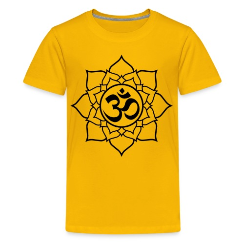 OM and Lotus (Y)+ - Kids' Premium T-Shirt
