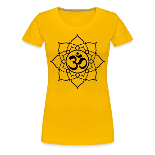 OM and Lotus (W)+ - Women's Premium T-Shirt
