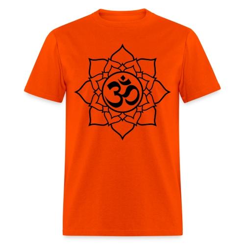 OM and Lotus (M) - Men's T-Shirt