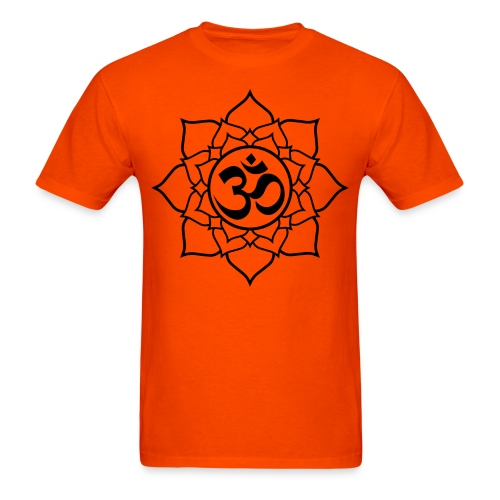 OM and Lotus (M) - Men's T-Shirt
