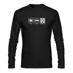 Eat Sleep Urbanism (WHT) - Men's Long Sleeve T-Shirt by Next Level