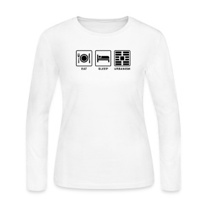 Eat Sleep Urbanism (BK) - Women's Long Sleeve Jersey T-Shirt