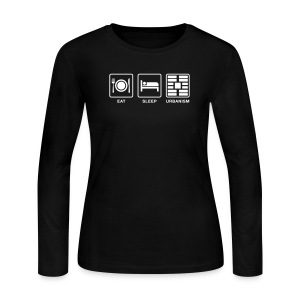 Eat Sleep Urbanism (WHT) - Women's Long Sleeve Jersey T-Shirt