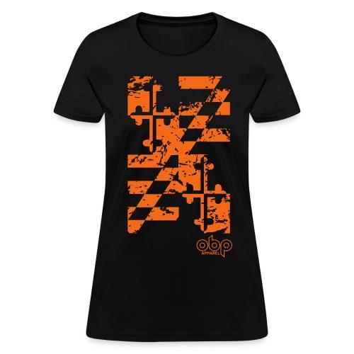 Maryland Flag Shirt (Distressed) - Women's T-Shirt