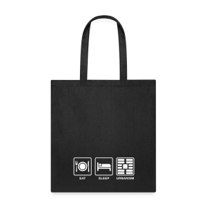 Eat Sleep Urbanism (WHT) - Tote Bag