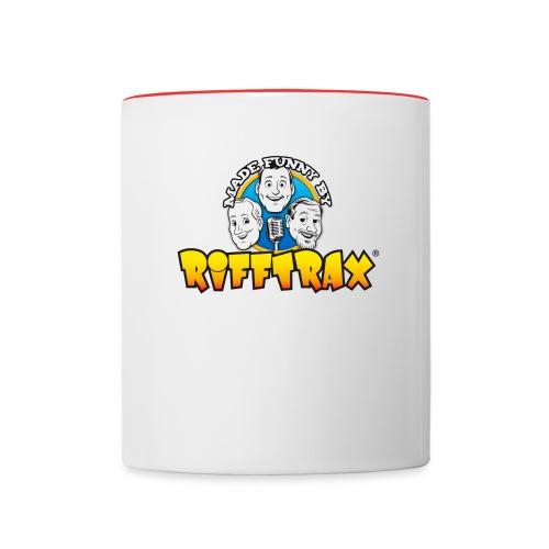 Made Funny By logo mug - Contrast Coffee Mug