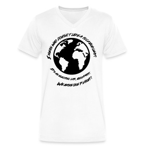 We Have One Planet - Men's V-Neck T-Shirt by Canvas