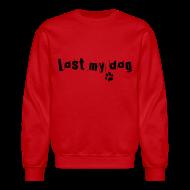 Long Sleeve Shirts ~ Crewneck Sweatshirt ~ Men's Sweater - Black logo