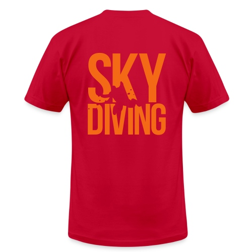 SkydivingSkull Front and Back - Men's Fine Jersey T-Shirt