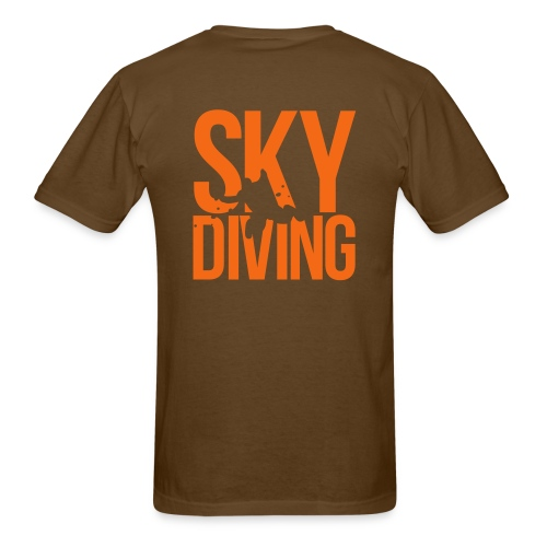 SkydivingSkull Front and Back - Men's T-Shirt