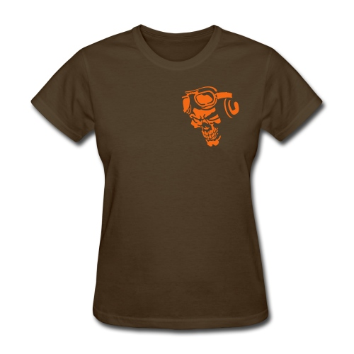 SkydivingSkull Front and Back - Women's T-Shirt