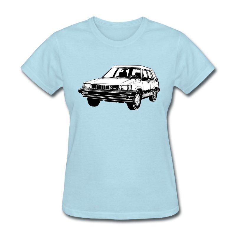 Toyota tercel 4wd illustration t shirt spreadshirt