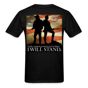 On Common Ground - I Will Stand - Men's T-Shirt