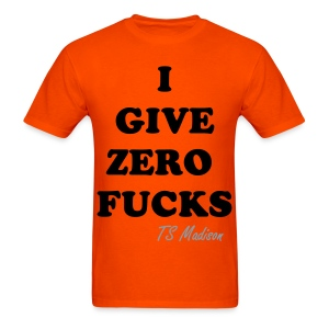 zero fucks  - Men's T-Shirt