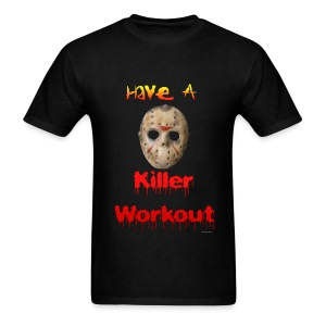 Jason Horror Killer Workout T - Men's T-Shirt