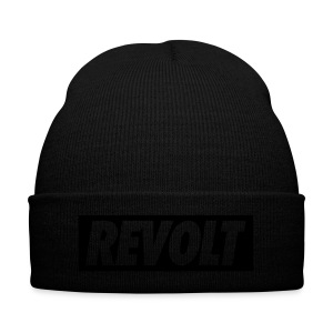 Be Ugly Blvck Cuff Beanie - Knit Cap with Cuff Print