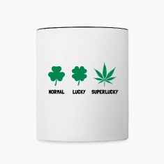 Cannabis / Hemp / Shamrock - Super Lucky mode Bottles & Mugs