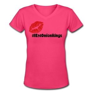 I EAT ONION RINGS FOR LADIES - Women's V-Neck T-Shirt