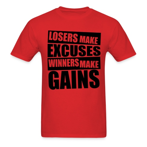 Excuses shirt - Men's T-Shirt