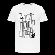 T-Shirts ~ Men's Premium T-Shirt ~ Men's Premium T - Black Maze Print