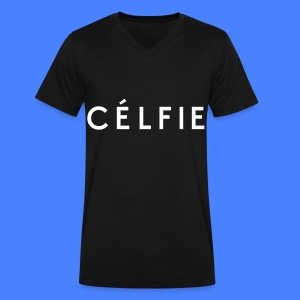 Celfie T-Shirts - Men's V-Neck T-Shirt by Canvas