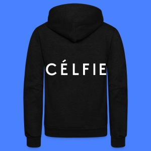 Celfie Zip Hoodies & Jackets - Unisex Fleece Zip Hoodie by American Apparel