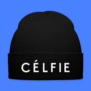Celfie Caps - Knit Cap with Cuff Print