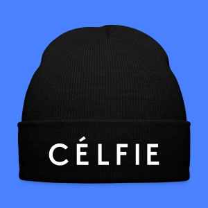 Celfie Caps - Knit Cap with Cuff Print