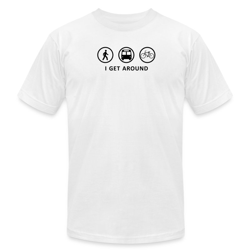 I Get Around (BK) - Men's T-Shirt by American Apparel