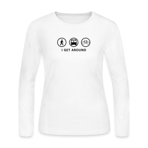 I Get Around (BK) - Women's Long Sleeve Jersey T-Shirt