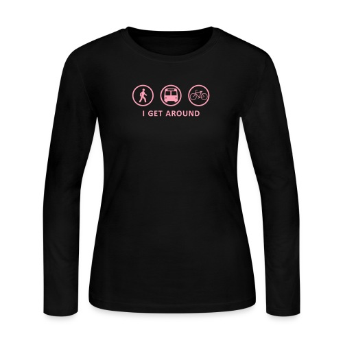I Get Around (PNK) - Women's Long Sleeve Jersey T-Shirt