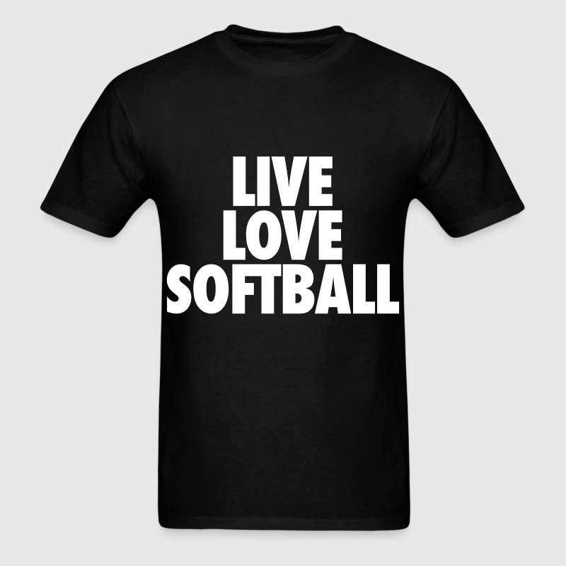 Live Love Softball T-Shirts - Men's T-Shirt