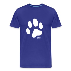 Men's Premium T - White Paw Print - Men's Premium T-Shirt