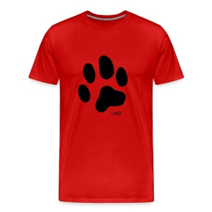 Men's Premium T - Black Paw Print - Men's Premium T-Shirt
