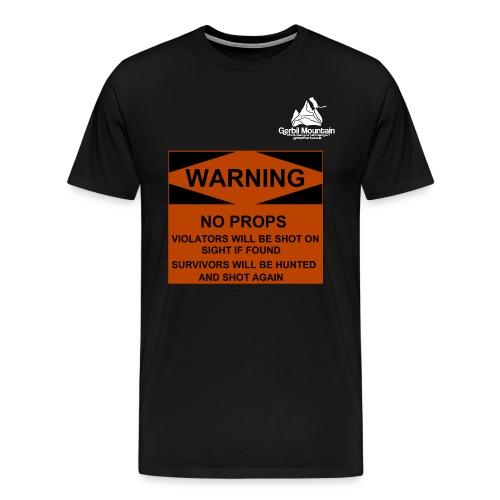 Warning Sign - Men's Premium T-Shirt