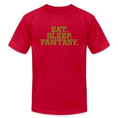 Eat. Sleep. Fantasy. (Metallic Gold) - Men's Jersey T-Shirt