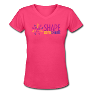 T-Shirts ~ Women's V-Neck T-Shirt ~ Diva Dash Logo V Neck