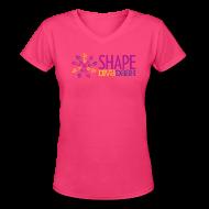 Women's T-Shirts ~ Women's V-Neck T-Shirt ~ Diva Dash Logo V Neck